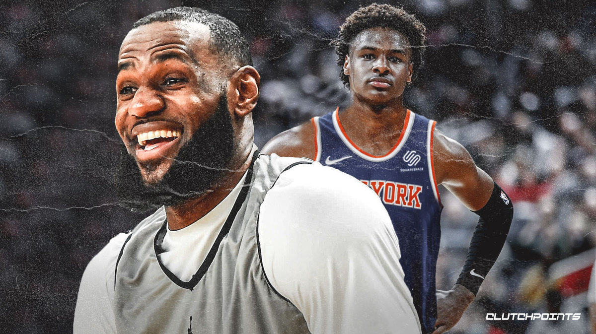 Lakers News Lebron James On Playing For Knicks If They Draft Bronny