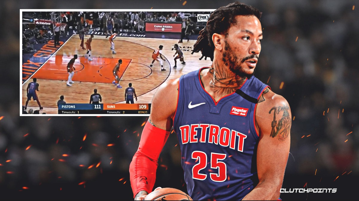 VIDEO: Pistons' Derrick Rose goes vintage as he ices the game vs. Suns on sick isolation sequence