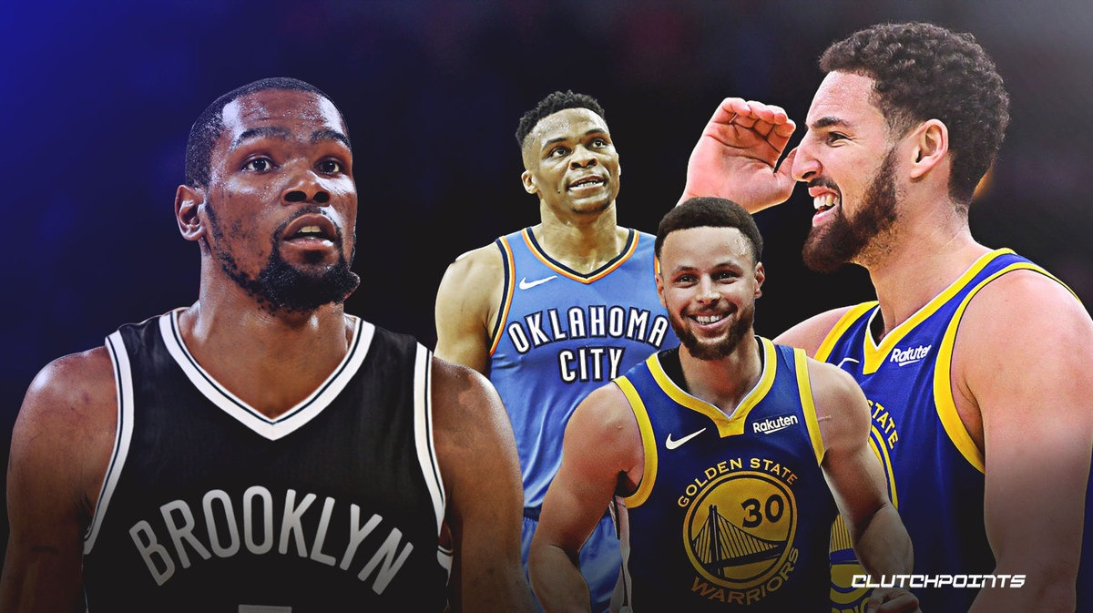 Golden State Warriors Kevin Durant Stef Curry Klay Thompson Draymond Green Splas