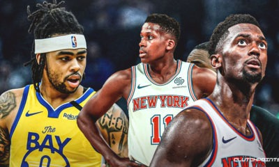 Bobby Portis, Frank Ntilikina, D'Angelo Russell, Knicks