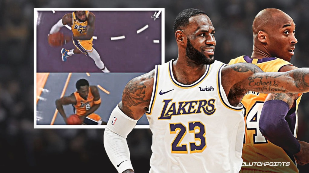 Lakers Lebron James Pays Homage To Kobe Bryant With Classic Dunk