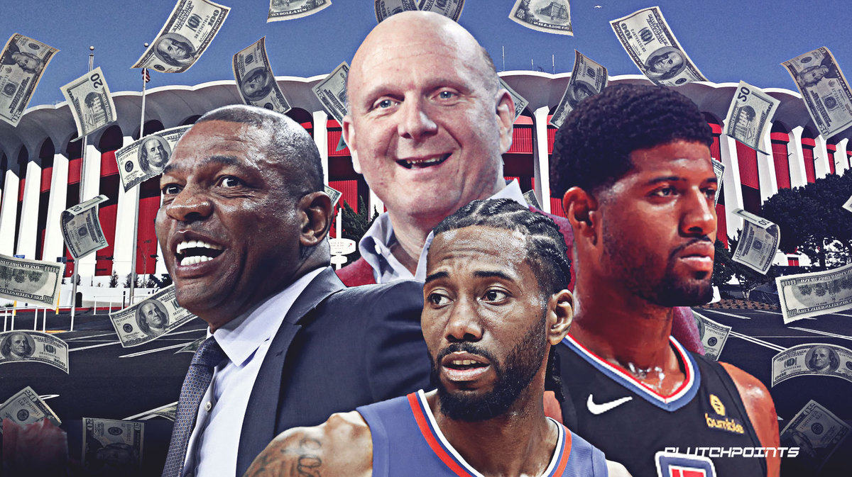 Steve Ballmer, Doc Rivers, Paul George, Kawhi Leonard, Clippers