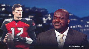 Tom Brady, Shaquille O'Neal, Buccaneers