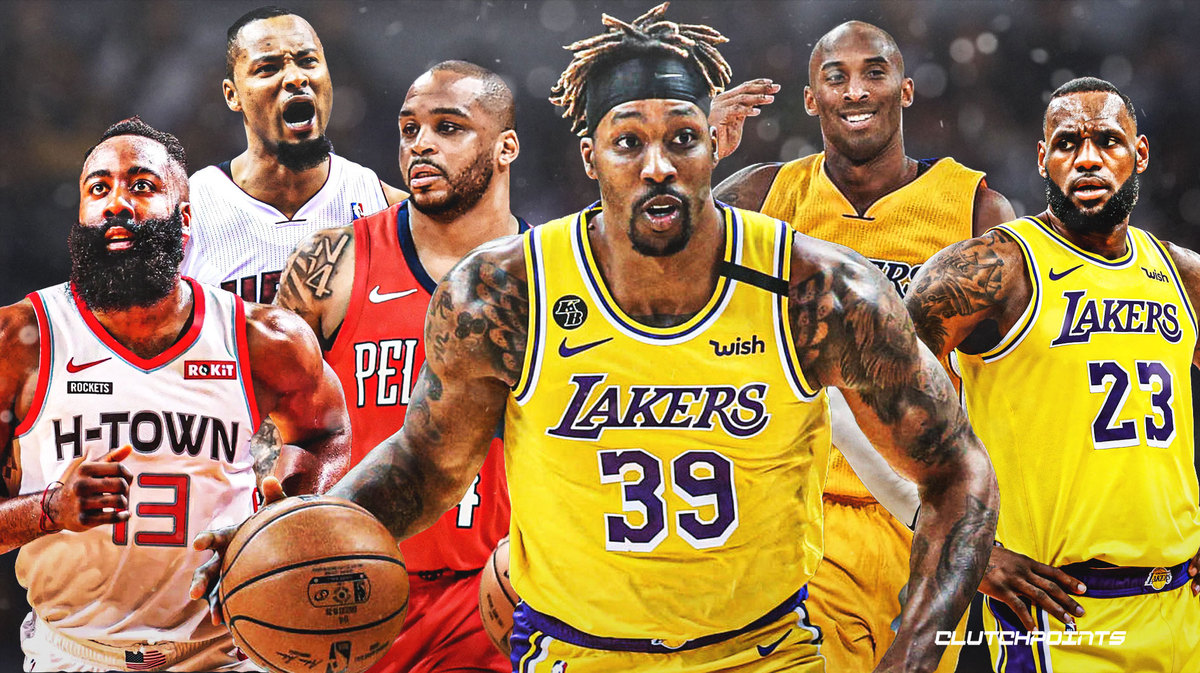 Dwight Howard, Jameer Nelson, Rashard Lewis, James Harden, LeBron James, Kobe Bryant