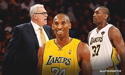 Kobe Bryant, Ron Artest, Phil Jackson, Lakers