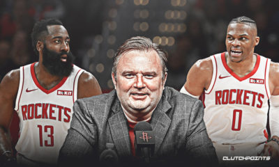 Rockets. James Harden, Daryl Morey, Russell Westbrook