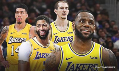 LeBron James, Anthony Davis, Alex Caruso, Danny Green, Lakers