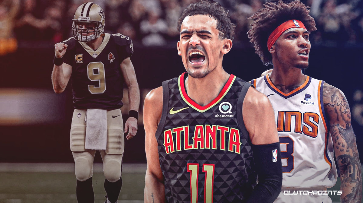 NBA, Trae Young, Kell Oubre Jr., Drew Brees