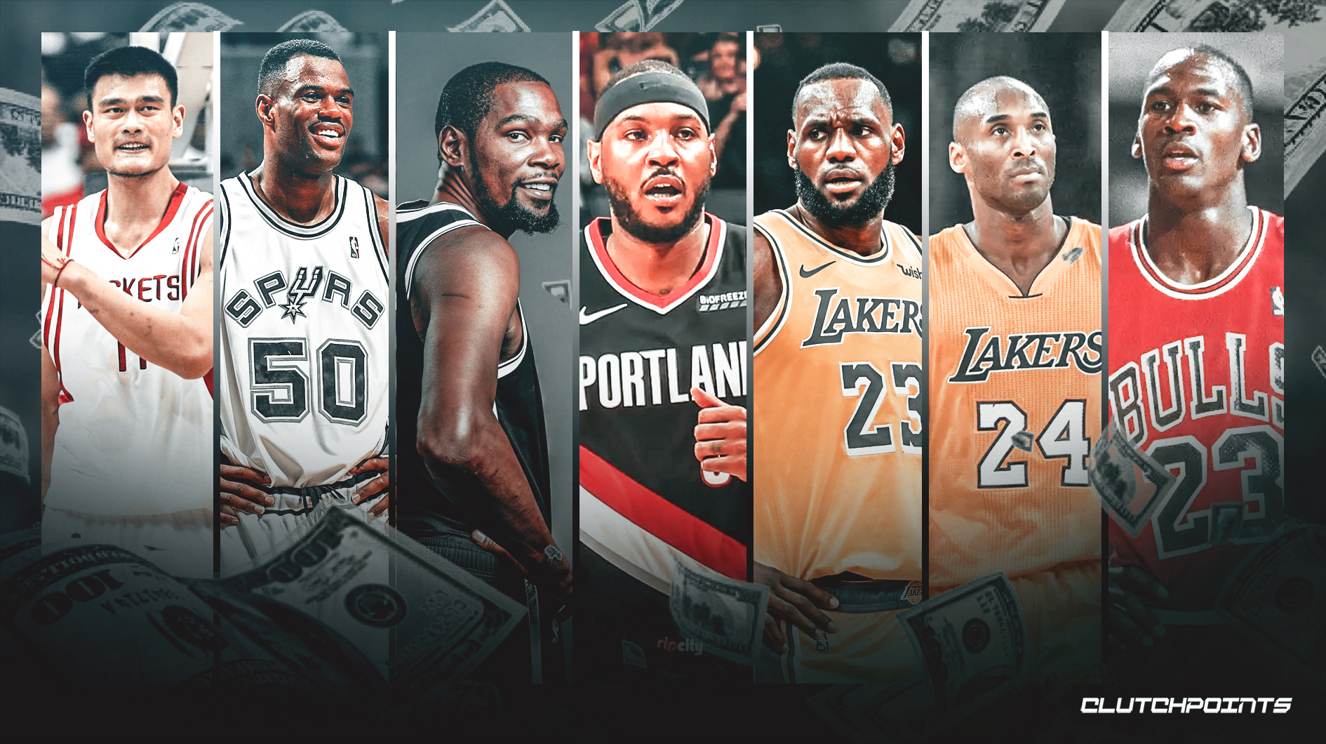 Taking a Look at the 20 Richest NBA Players in History, Richest NBA Players of all time, richest players
