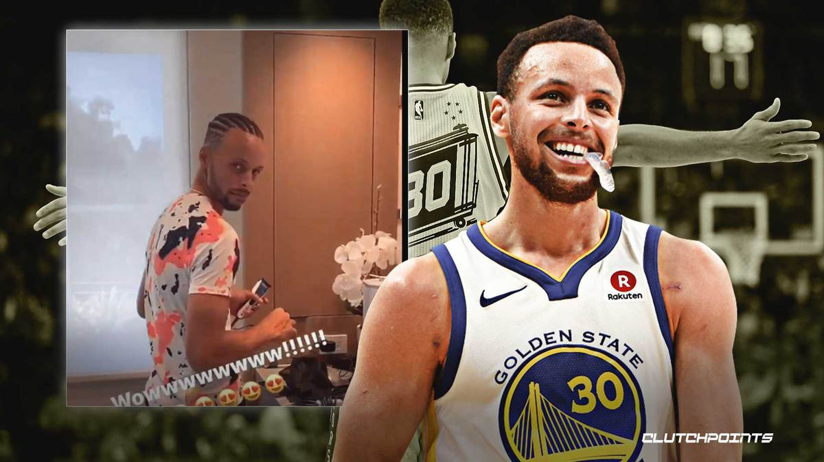 Warriors Video Stephen Curry Shows Off Brand New Hairstyle