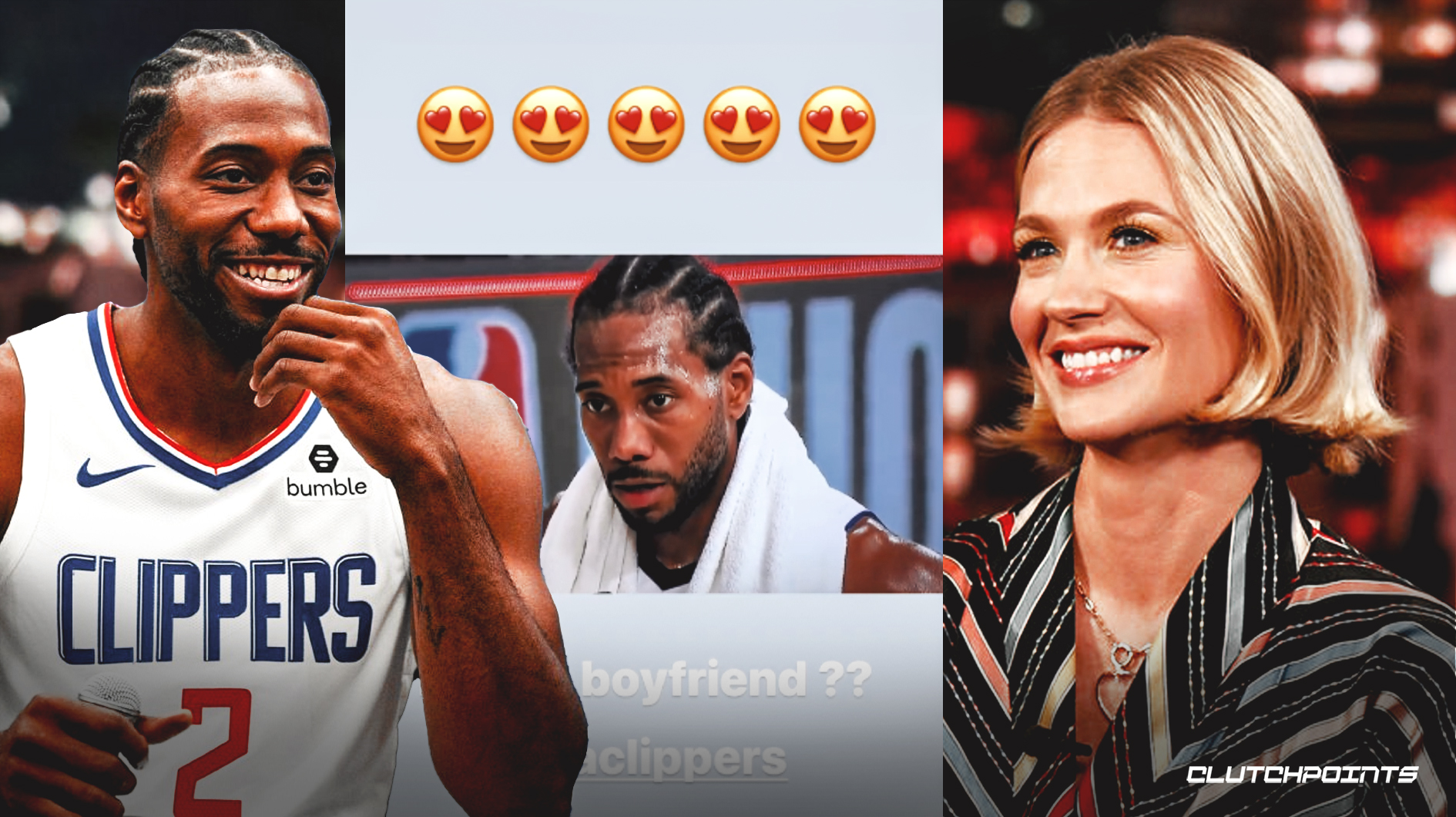 Kawhi Leonard, Clipperds, January Jones