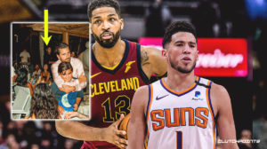 Devin Booker, Tristan Thompson, Kim Kardashian, NBA