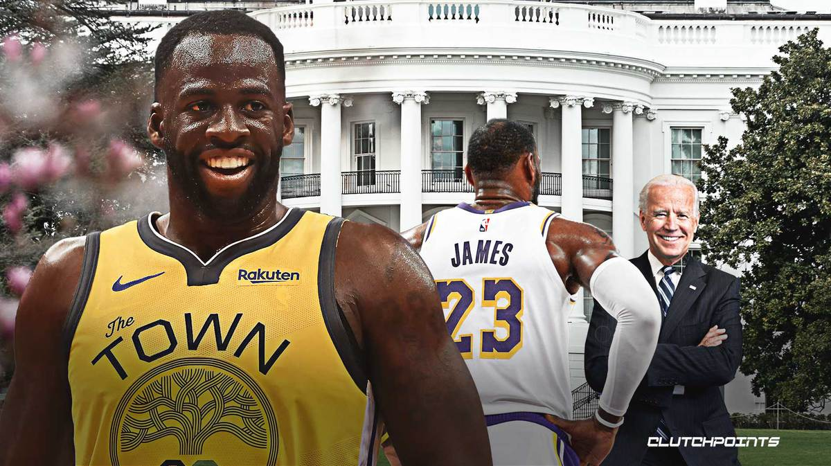 Draymond Green, LeBron James, Joe BIden, Warriors