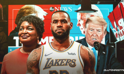 LeBron James, Stacey Abrams, Donald Trump, presidential election