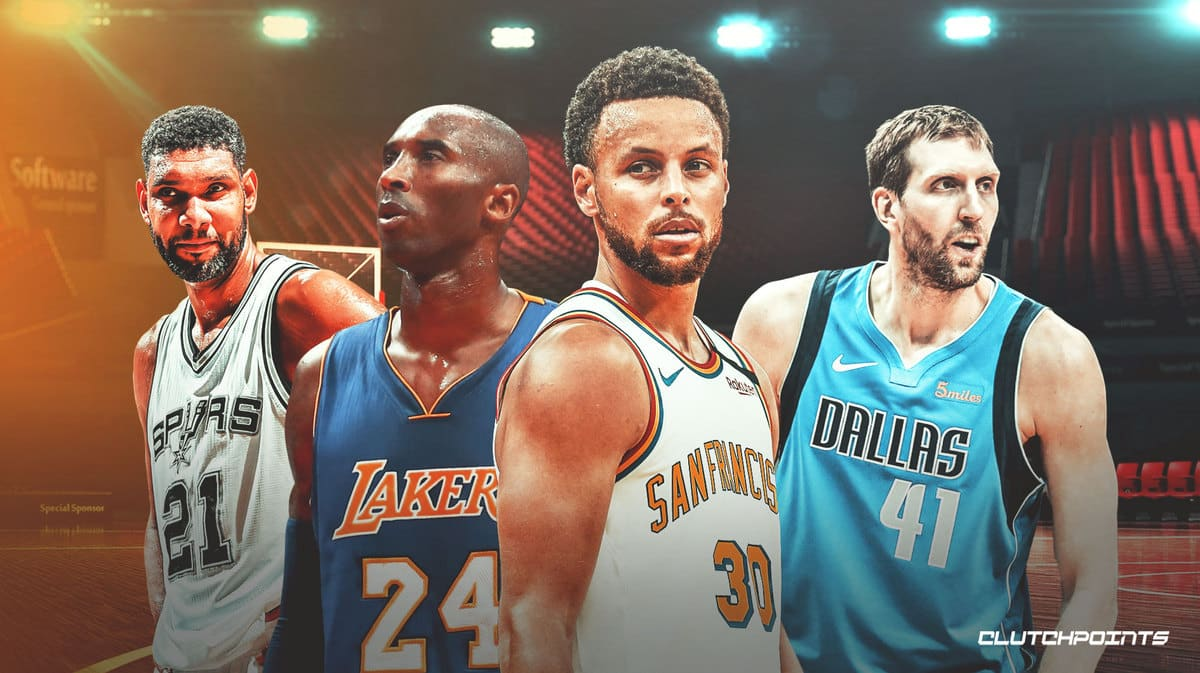 Stephen Curry, Kobe Bryant, Dirk Nowitzki, Tim Duncan, Warriors, Lakers, Mavs, Spurs