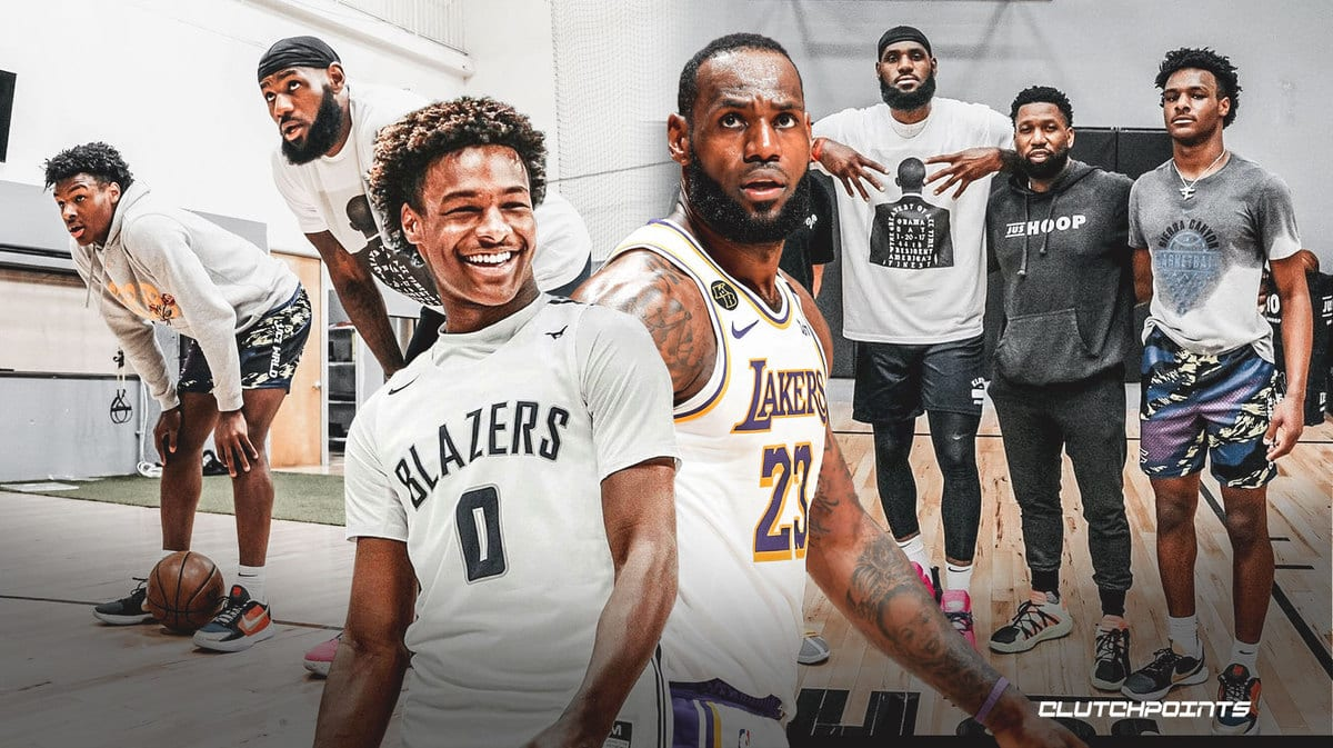 Bronny James looks insanely big next to dad, LeBron - ClutchPoints