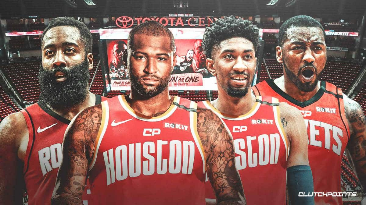 John Wall, James Harden, Christian Wood, DeMarcus Cousins, Rockets