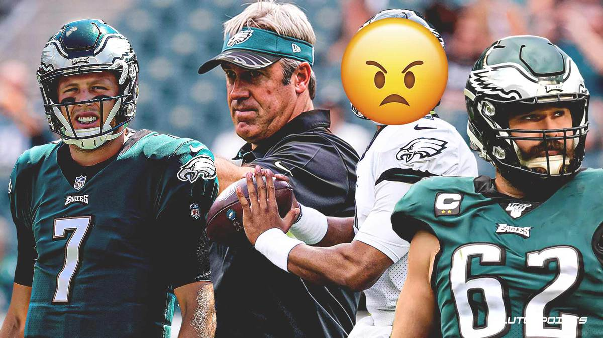 Eagles players, coaches shocked by late QB switch, resulting in sideline confrontations