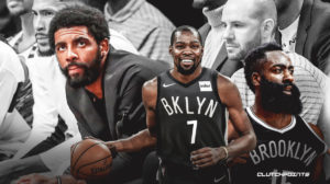 Kyrie Irving, James Harden, Kevin Durant, Nets