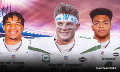 Zach Wilson, J'Marr Chase and Justin Fields, Jets