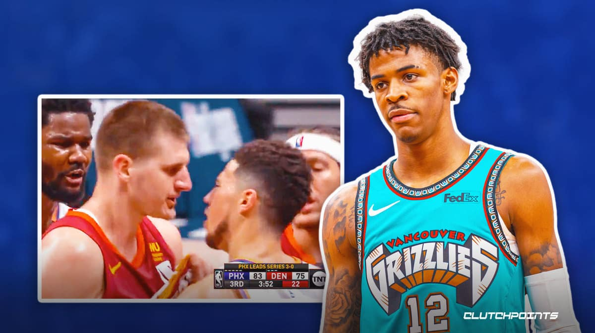 Ja Morant reacts to stunning ejection call on Nikola Jokic that riled up Devin Booker_thumbnail