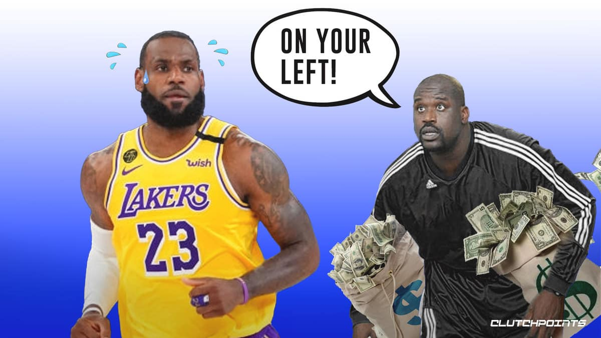 lebron james, shaquille o'neal, lakers