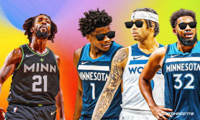 Timberwolves, Patrick Beverley, Karl-Anthony Towns, D'Angelo Russell, Anthony Edwards